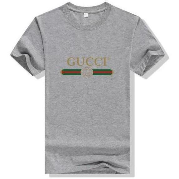 Gucci Logo Cotton T-shirt Gray - S - Women's blouses
