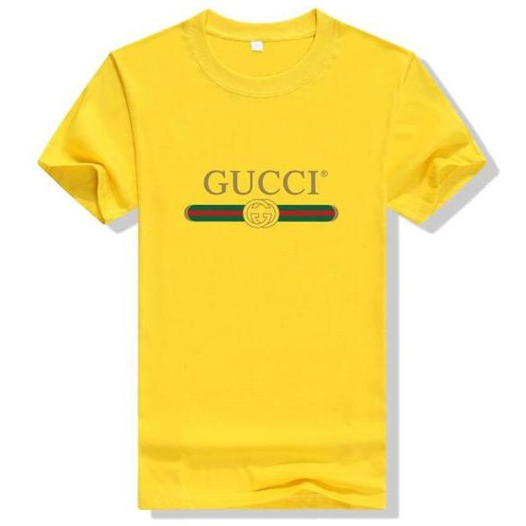 Gucci Logo Cotton T-shirt Yellow - S - Women's blouses