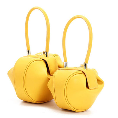 Hailey Leather Tote - Small Yellow - Women's Bags