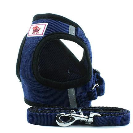 HARNESS VEST & LEASH - Blue / L - Pet Harness
