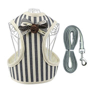 HARNESS VEST & LEASH - GreyStripe / L - Pet harnesses