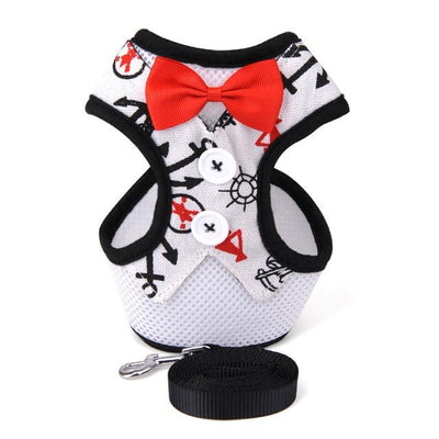 HARNESS VEST & LEASH - Nautical White / S - Pet harnesses
