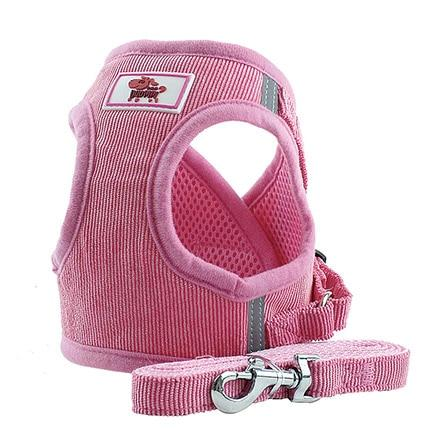 HARNESS VEST & LEASH - Pink / L - Pet Harness