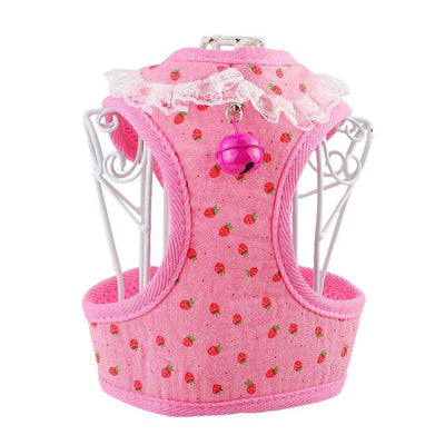 HARNESS VEST & LEASH - PinkStrawberry / L - Pet harnesses