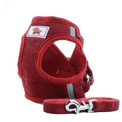HARNESS VEST & LEASH - Red / L - Pet Harness