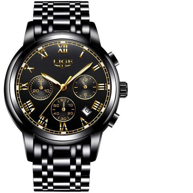 Iconic Link-Black - Black - men's watches