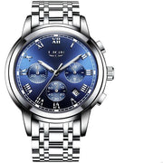 Iconic Link-Silver/Blue - Silver/Blue - men's watches