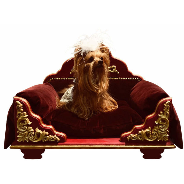 JACOB - Natural Wood with Decorative Embellishments Pet Bed