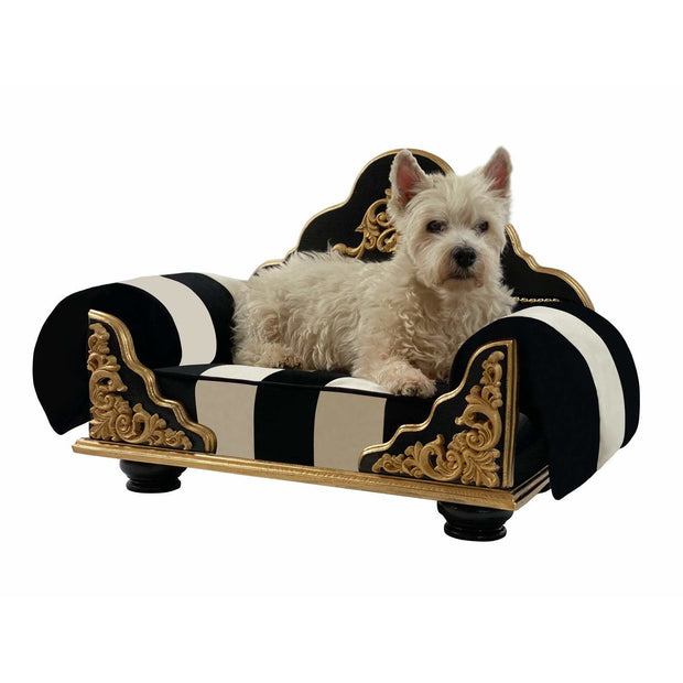 Designer Natural Wood with Decorative Embellishments Pet Bed
