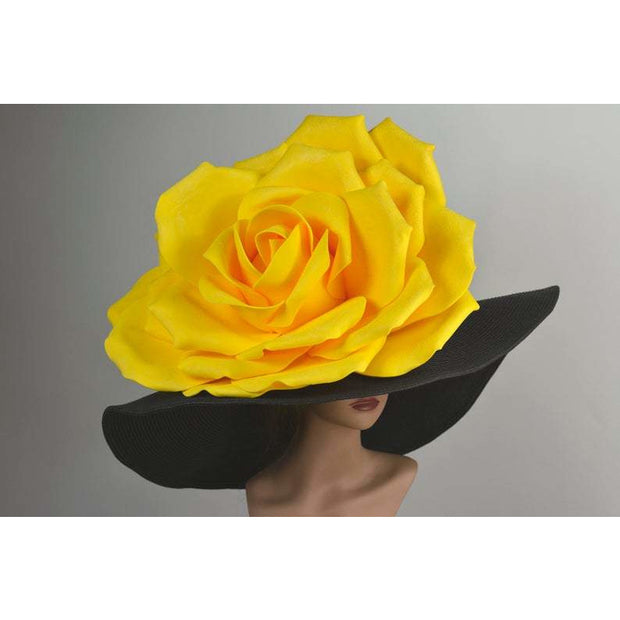 Brest - Vogue Yellow Rose Straw Hat