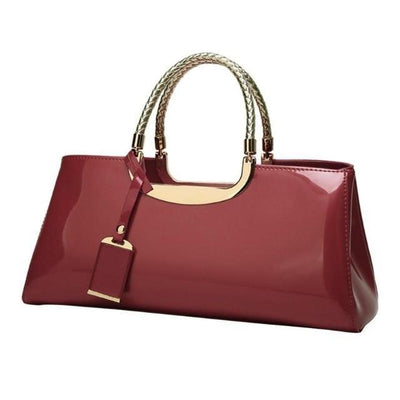 JANE - Patent Leather Tote - Women's Bags