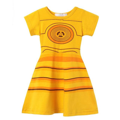 JESSIE - 3-CPO Girls Character Dress - Star War C3PO / 12M -