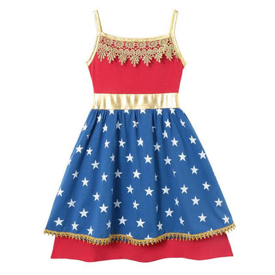 JESSIE - Wonder Woman Girls Character Dress - Woder woman /