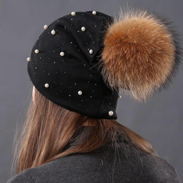 Julia Crystal and Pearl-Embellished Hat-Black - womens hats