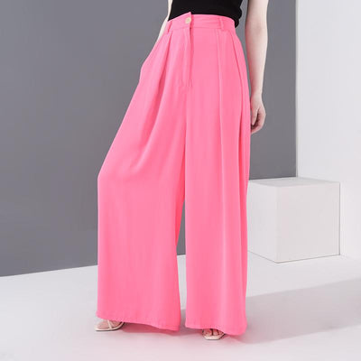 JUNIPER - Pink Pleated Wide Leg Pants - women's clothing