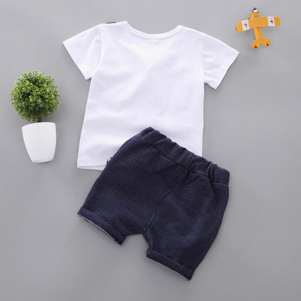 JUSTIN - Boys T-Shirt and Shorts Set - boys clothing