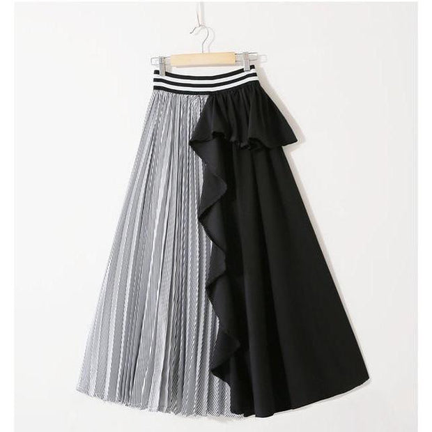 KARTER - Black Contrast Colors Skirt - women's skirts
