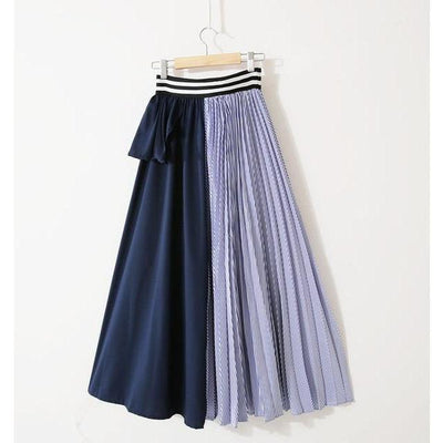 KARTER - Blue Contrast Colors Skirt - women's skirts