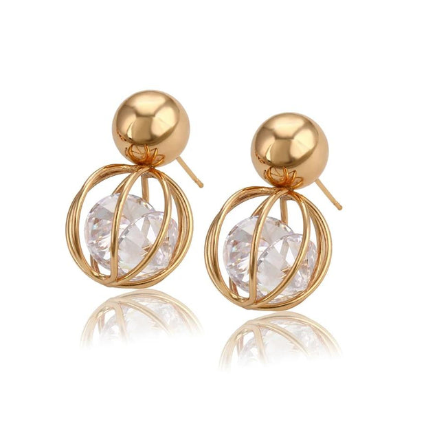 Kate Drop Earrings - Gold-color / White - Women's Earrings