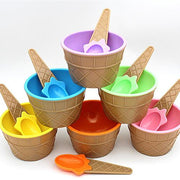 Kids Ice Cream Bowl with Spoon - kitchen