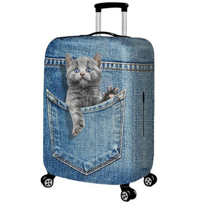 Kitten Escaping 3D Pattern Luggage Protection Cover - G