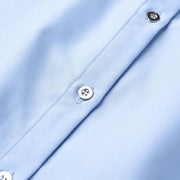 Klanda - Pin Detail Blue Blouse - women's clothing