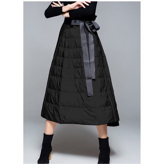 Ladies A-line Down-filled Skirt - women's clothing