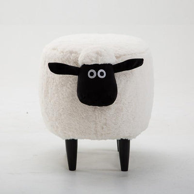 Lamb Ottoman-White - stools and ottomans