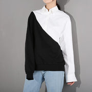 LAURA - The half and half blouse - women's clothing