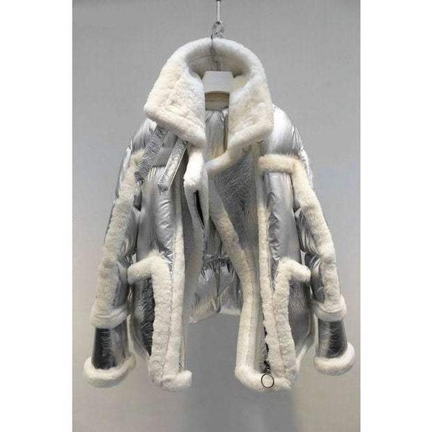 LONDIE - Genuine Shearling Sheepskin Moto and Down Filled