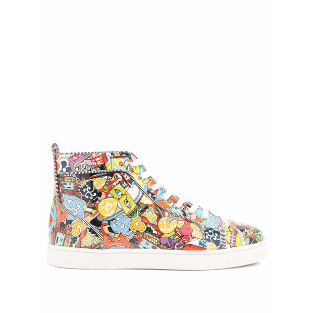 Louis Orlato Super Loubi Print High Top Sneaker - men's