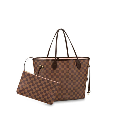Louis Vuitton Neverfull MM Damier Ebene Rose Ballerine -