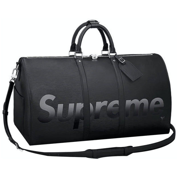 Louis Vuitton X Supreme Black Epi Keepall Bandouliere Duffle