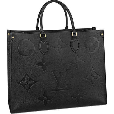 LV Onthego GM Monogram Empreinte Leather - Black / Oversized