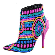 Lyla Pointy Toe Ankle Boot - Fuchsia - Fuchsia / 6 - women's