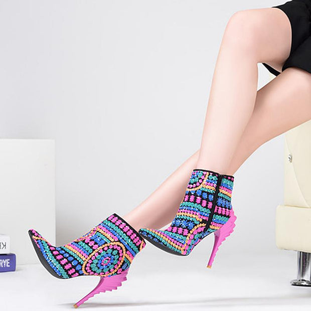 Lyla Pointy Toe Ankle Boot - Fuchsia - women's boots