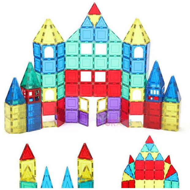 Magnetic Educational Constructor Tiles - toys