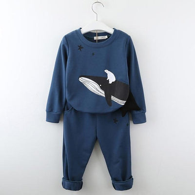 MENOA - Pullover and Jogger Set - AZ1774 Navy Blue / 6 -