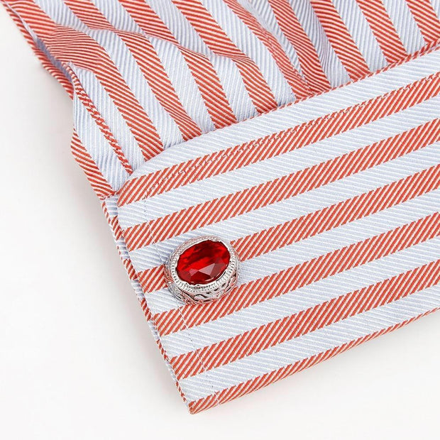 Men's Red Crystal Cufflinks - Men's cufflinks