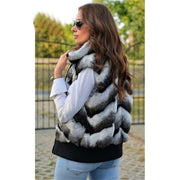 Mia Rex Rabbit Fur Vest - women's vests