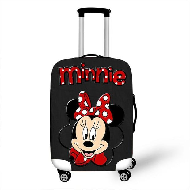 Minnie Black Luggage Cover - Luggage covers