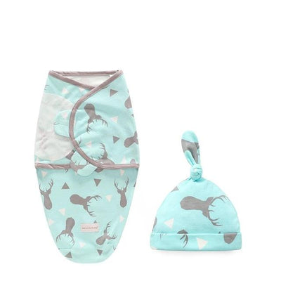 Miracle Baby SwaddleMe Swaddle with Cap - Grey Fawn S -