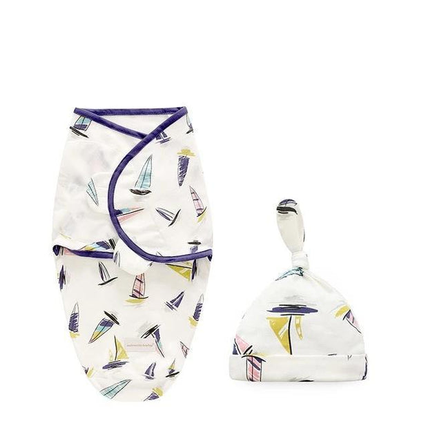 Miracle Baby SwaddleMe Swaddle with Cap - Sailing boat L -