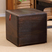 Modern Wooden Storage Stool - Coffee - stools and ottomans