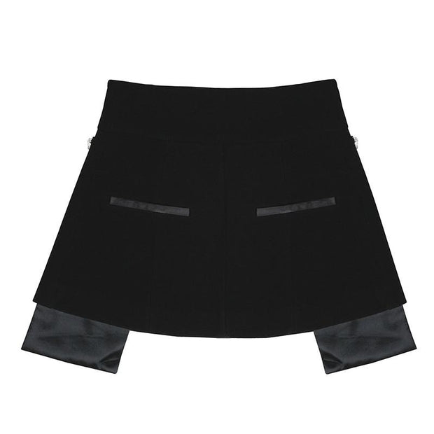 MOLLY - Crystal Embellished Mini Skirt Belt - women's