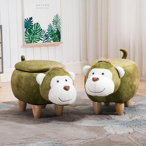 Monkey Storage Ottoman - stools and ottomans