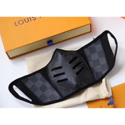 Louis Vuitton Monogram Leather Mask - Large / Black - face