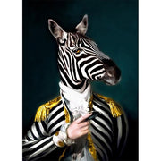 Mr. Zebra - 13x18cm No Frameed / 5 - Wall Art