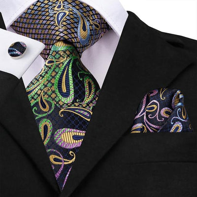 Multi-Color Paisley Tie - Men's Ties