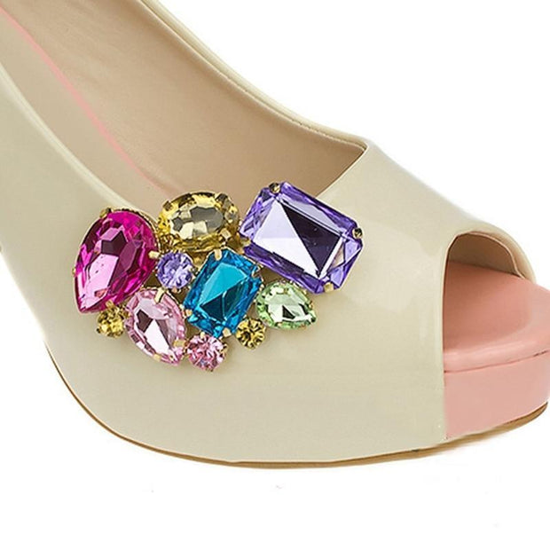 Multi Gem Shoe Clip - Muli - women's Shoes